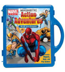 Marvel Heroes Action Adventures Book and Magnetic Playset