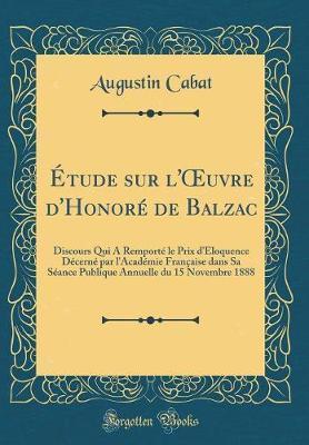 Étude sur l'OEuvre d'Honoré de Balzac