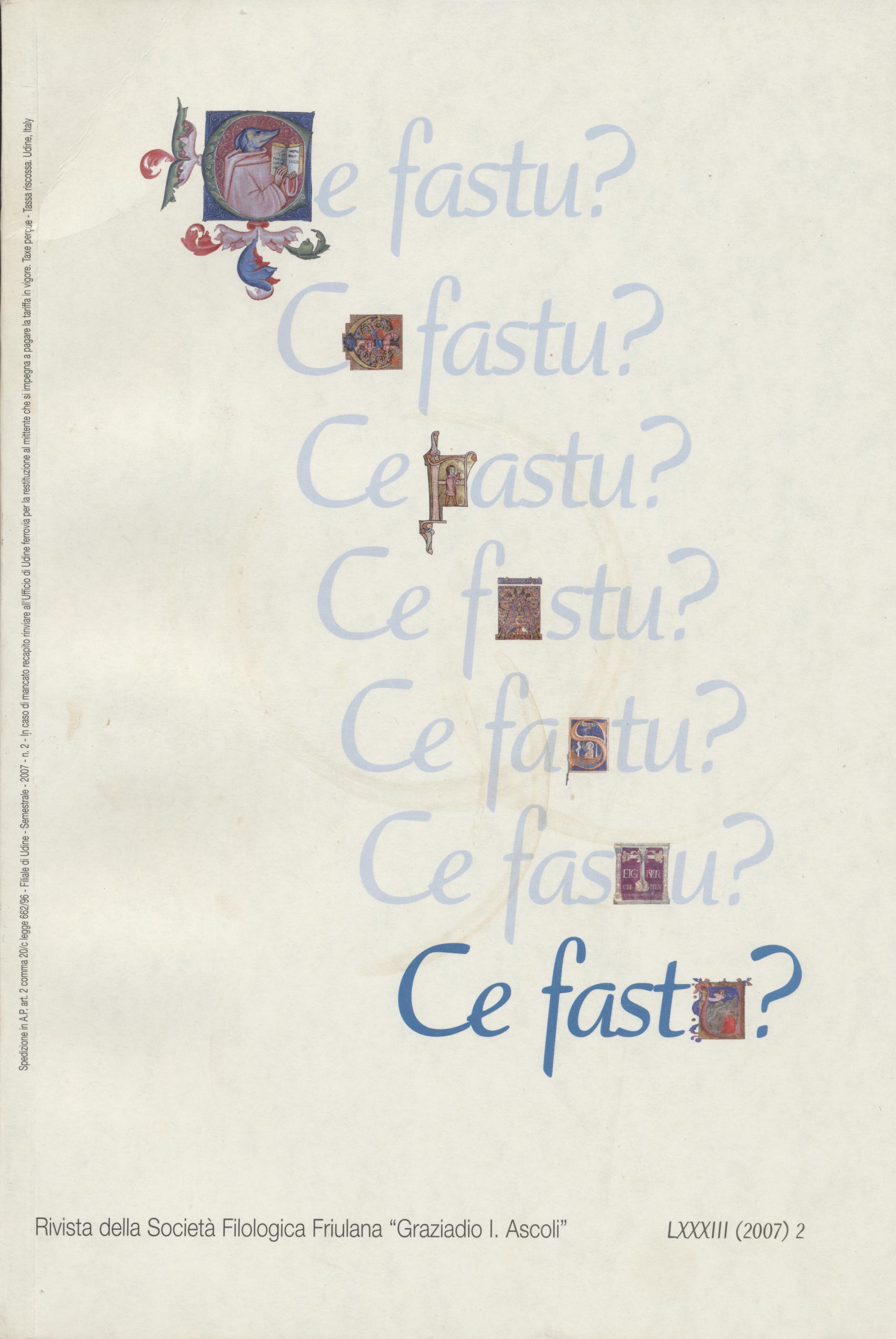 Ce fastu? Anno LXXXIII n.2 (2007)