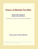 Essays on Russian Novelists (Webster's Korean Thesaurus Edition)