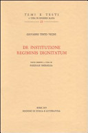 De institutione regiminis dignitatum. Testo latino a fronte