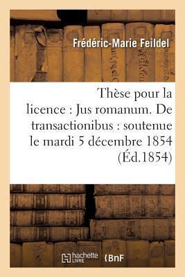 Th�se Pour La Licence