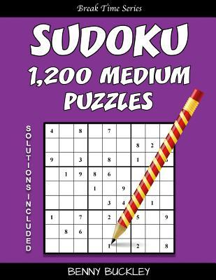 Sudoku 1,200 Medium Puzzles. Solutions Included