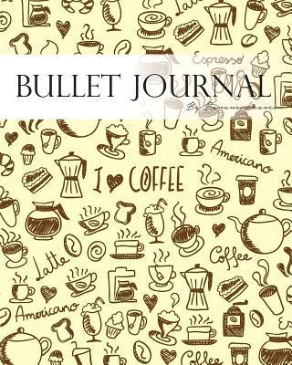 Vintage Coffee Lovers Doodles Drawing Bullet Journal Notebook