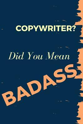 Copywriter? Did You ...