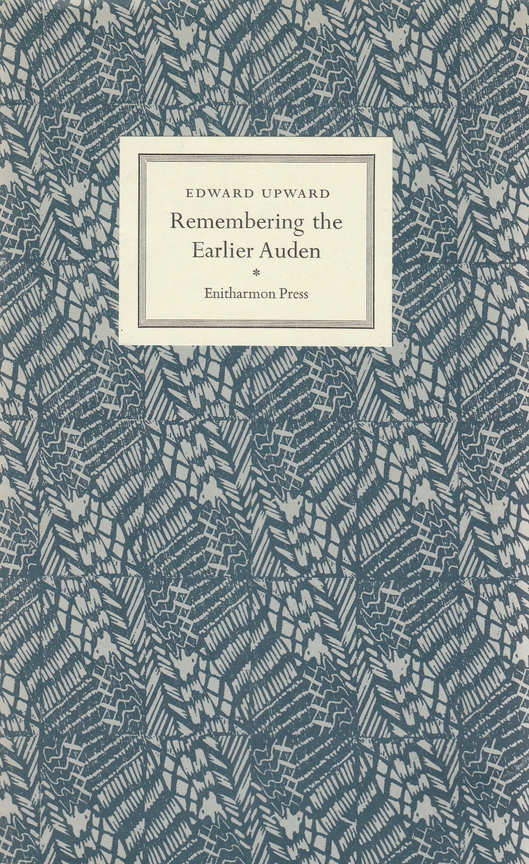 Remembering the Earlier Auden