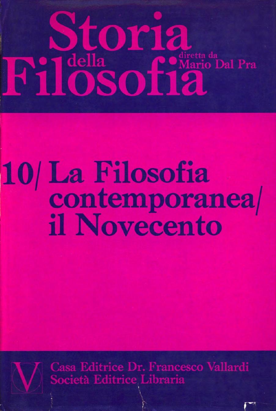 Storia della Filosofia - Volume X