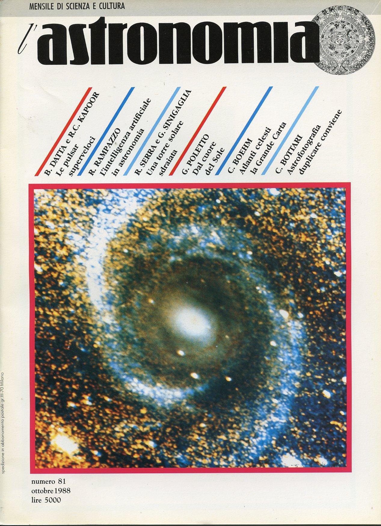 L'Astronomia, Anno X, n.81
