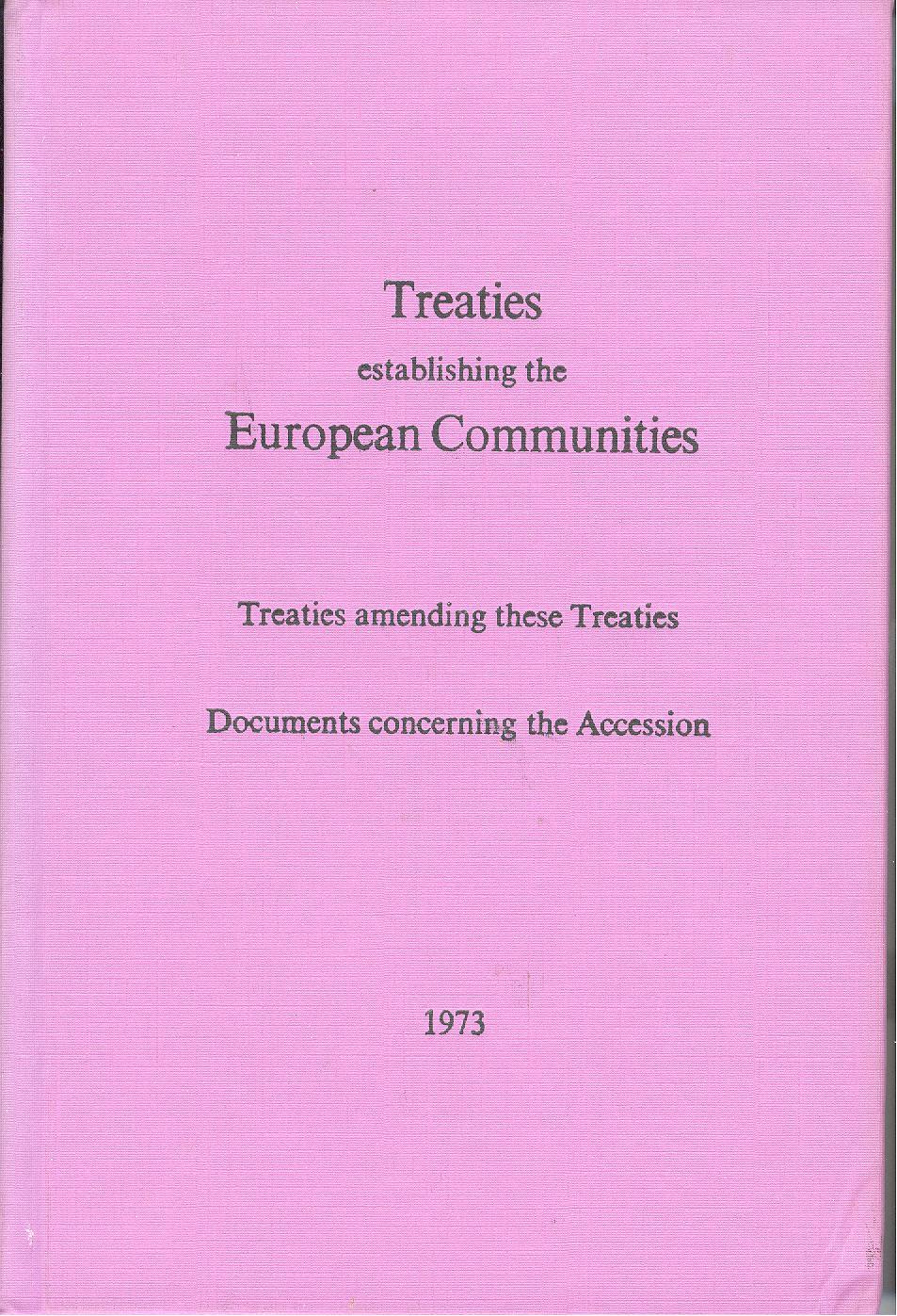 Treaties establishing the European Communities