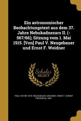 GER-ASTRONOMISCHER BEOBACHTUNG