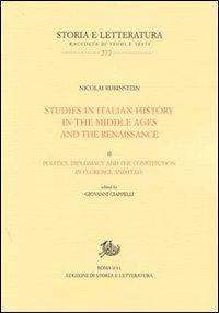 Studies in italian history in the Middle Ages and the Renaissance