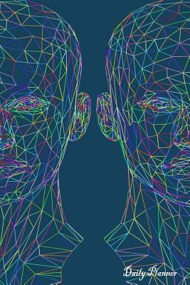 Human Head Art, Blue Daily Planner