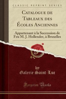 Catalogue de Tableaux des Écoles Anciennes