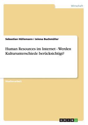 Human Resources Im Internet - Werden Kulturunterschiede Berucksichtigt?