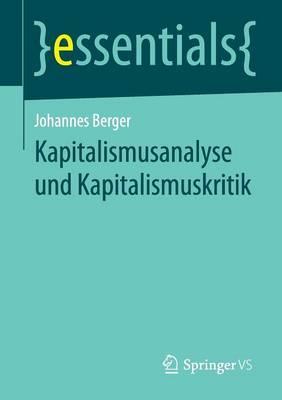 Kapitalismusanalyse Und Kapitalismuskritik