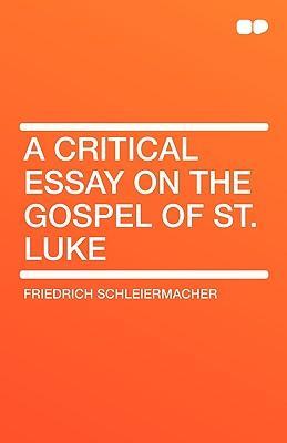 A Critical Essay on ...