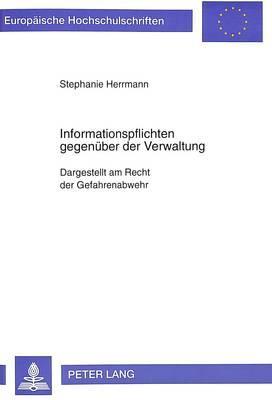 Informationspflichten gegenüber der Verwaltung
