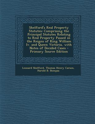 Shelford's Real Property Statutes