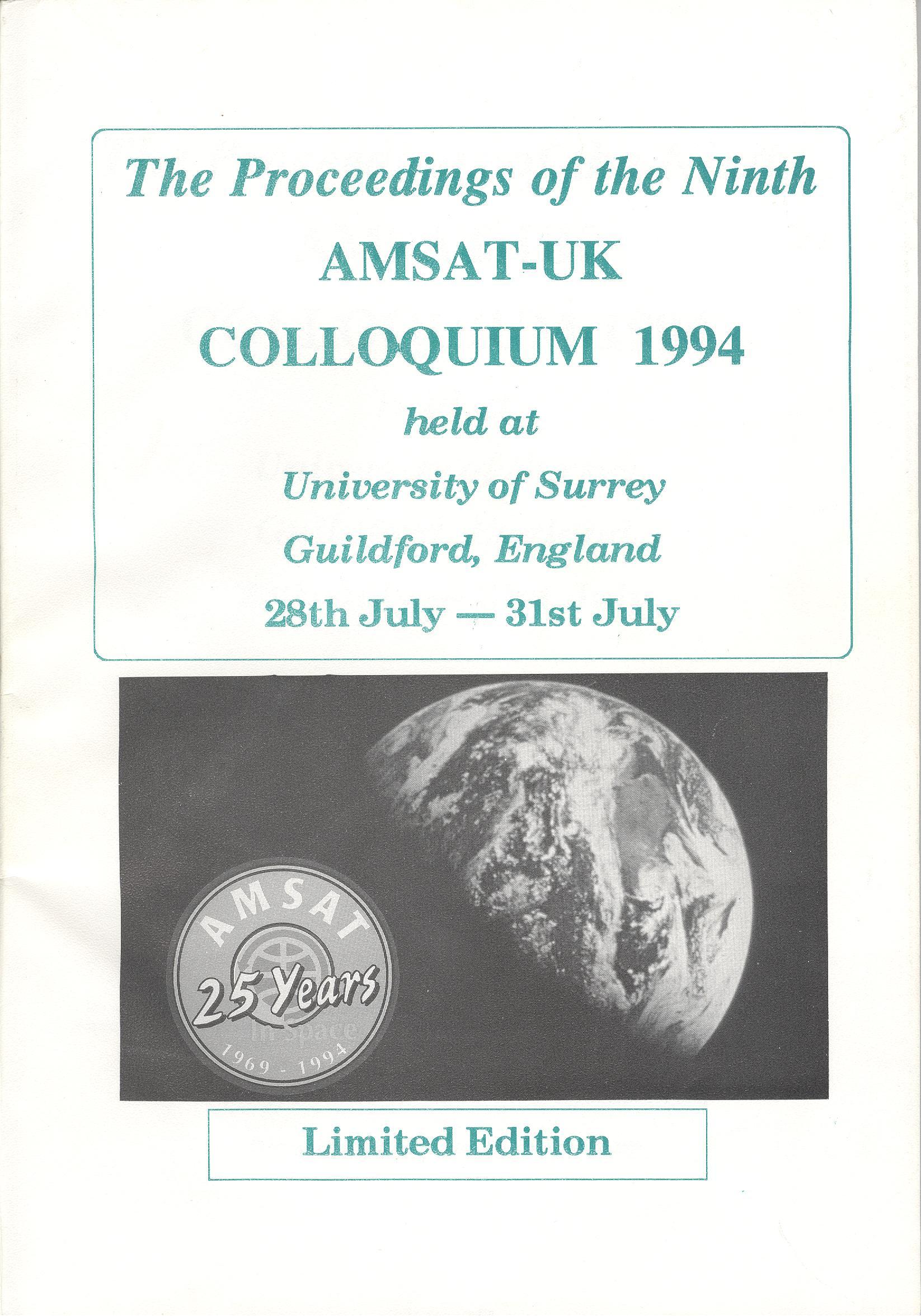 The Proceedings of he Ninth AMSAT-UK Colloquium 1994