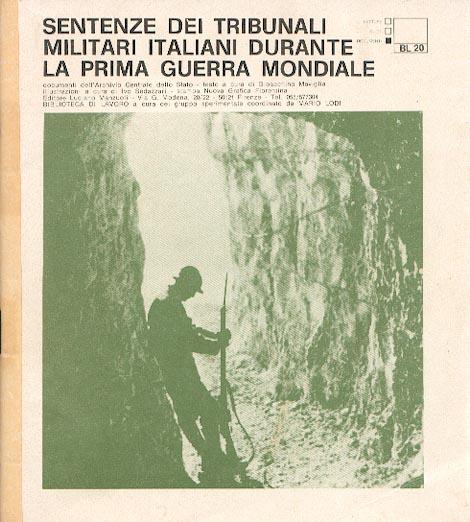Sentenze dei tribunali militari italiani durante la Prima Guerra Mondiale