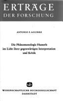 Die Phänomenologie Husserls im Licht ihrer gegenwärtigen Interpretation und Kritik