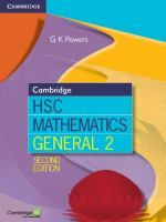 Cambridge HSC Mathematics: General 2