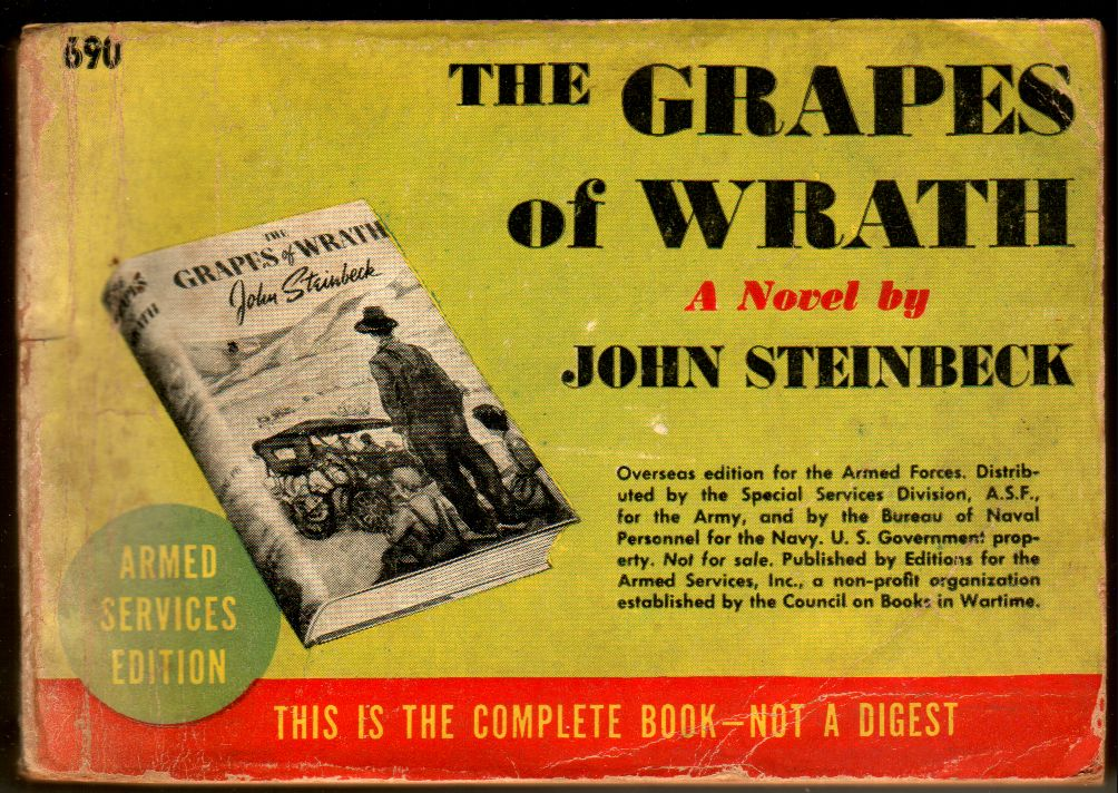 a hatred for corruption in the grapes of wrath by john steinbeck Test and improve your knowledge of the grapes of wrath study chapter 15 of john steinbeck's the grapes of wrath leaves the he disapproves of the corruption.