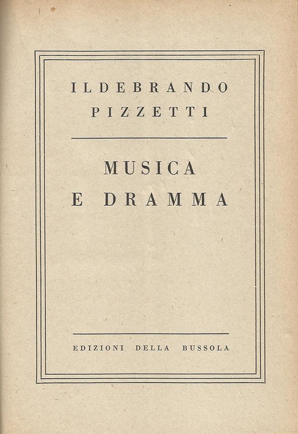 Musica e dramma