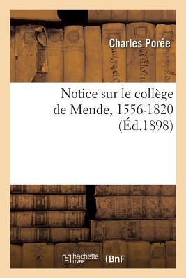 Notice Sur le College de Mende, 1556-1820