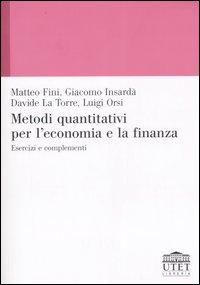 Metodi quantitativi per l'economia e la finanza