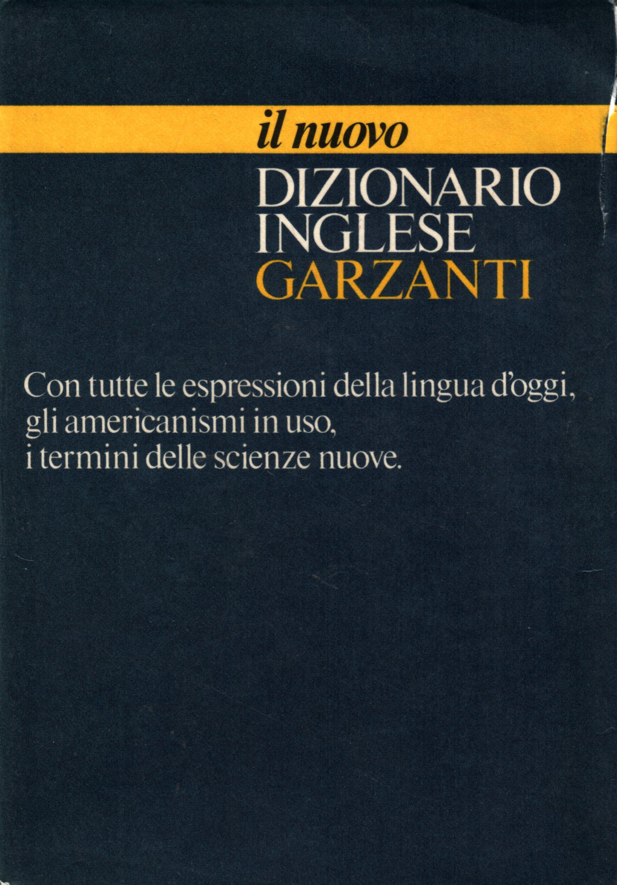 Il nuovo dizionario inglese Garzanti