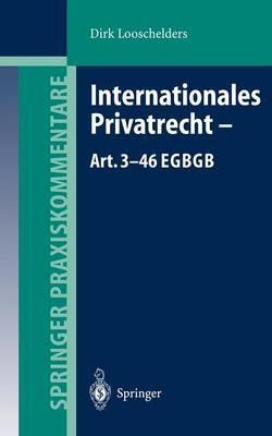 Internationales Privatrecht-art. 3-46 Egbgb