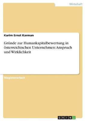 Gründe zur Humankapitalbewertung in österreichischen Unternehmen