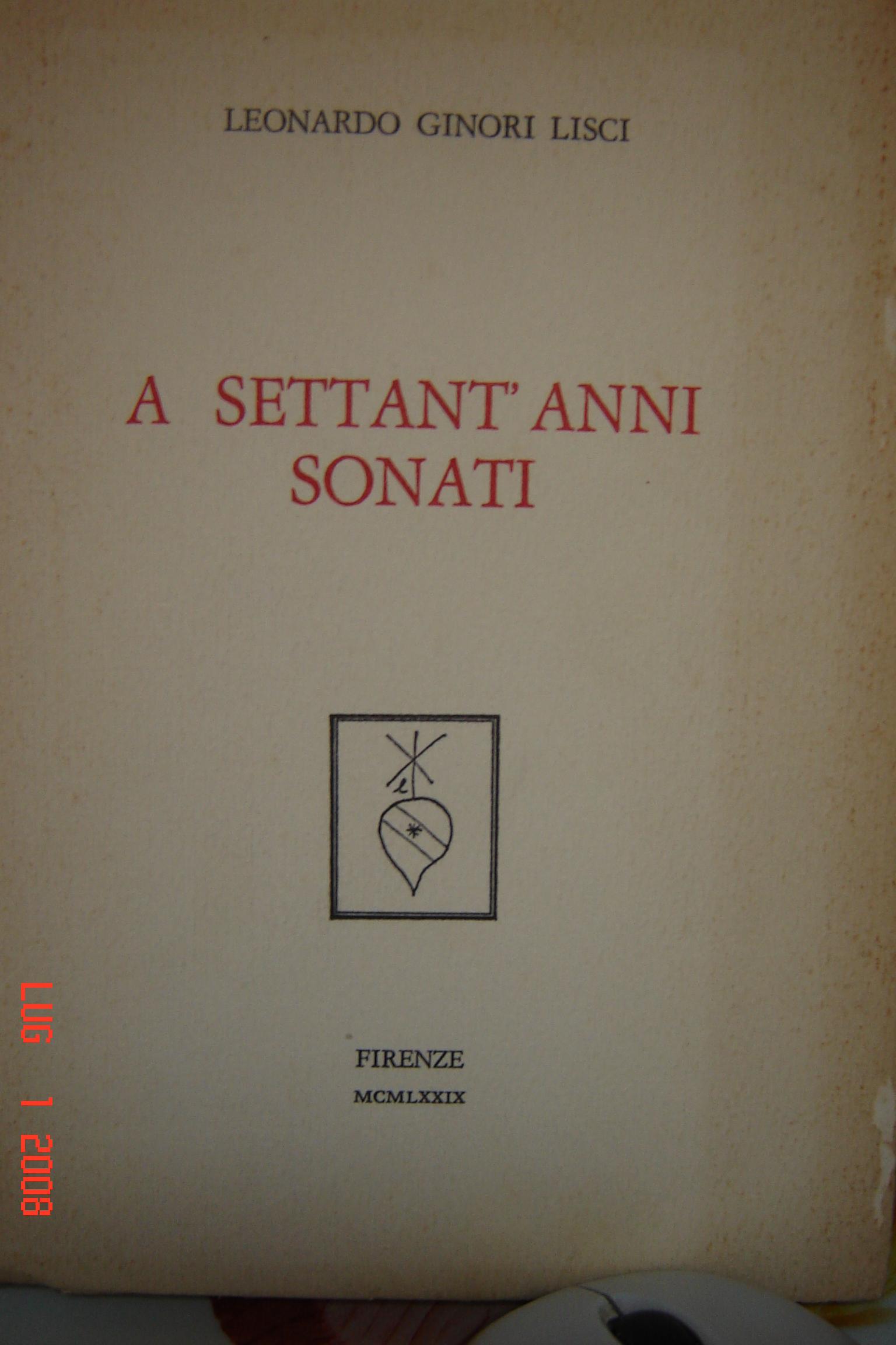 A settant'anni sonati