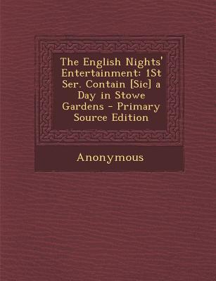 The English Nights' Entertainment