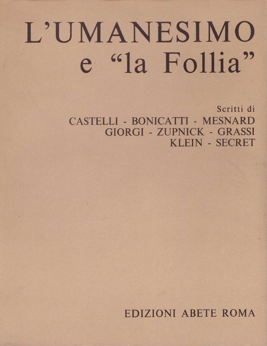 """L'Umanesimo e """"la Follia"""""""