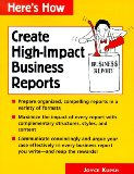 Create High Impact Business Reports