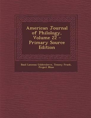 American Journal of Philology, Volume 22 - Primary Source Edition