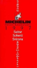 Michelin hôtels-restaurants 1997, Suisse, Schweiz, Svizzera