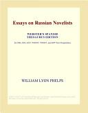 Essays on Russian Novelists (Webster's Spanish Thesaurus Edition)
