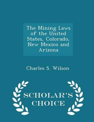 The Mining Laws of the United States, Colorado, New Mexico and Arizona - Scholar's Choice Edition