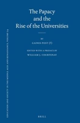 The Papacy and the Rise of the Universities
