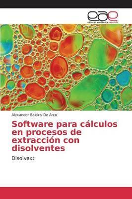 Software para cálculos en procesos de extracción con disolventes