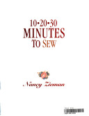 10-20-30 minutes to sew