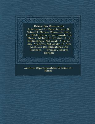Releve Des Documents Interessant Le Departement de Seine-Et-Marne