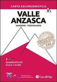 Carta escursionistica Valle Anzasca quadrante Est. Ediz. italiana, inglese e tedesca