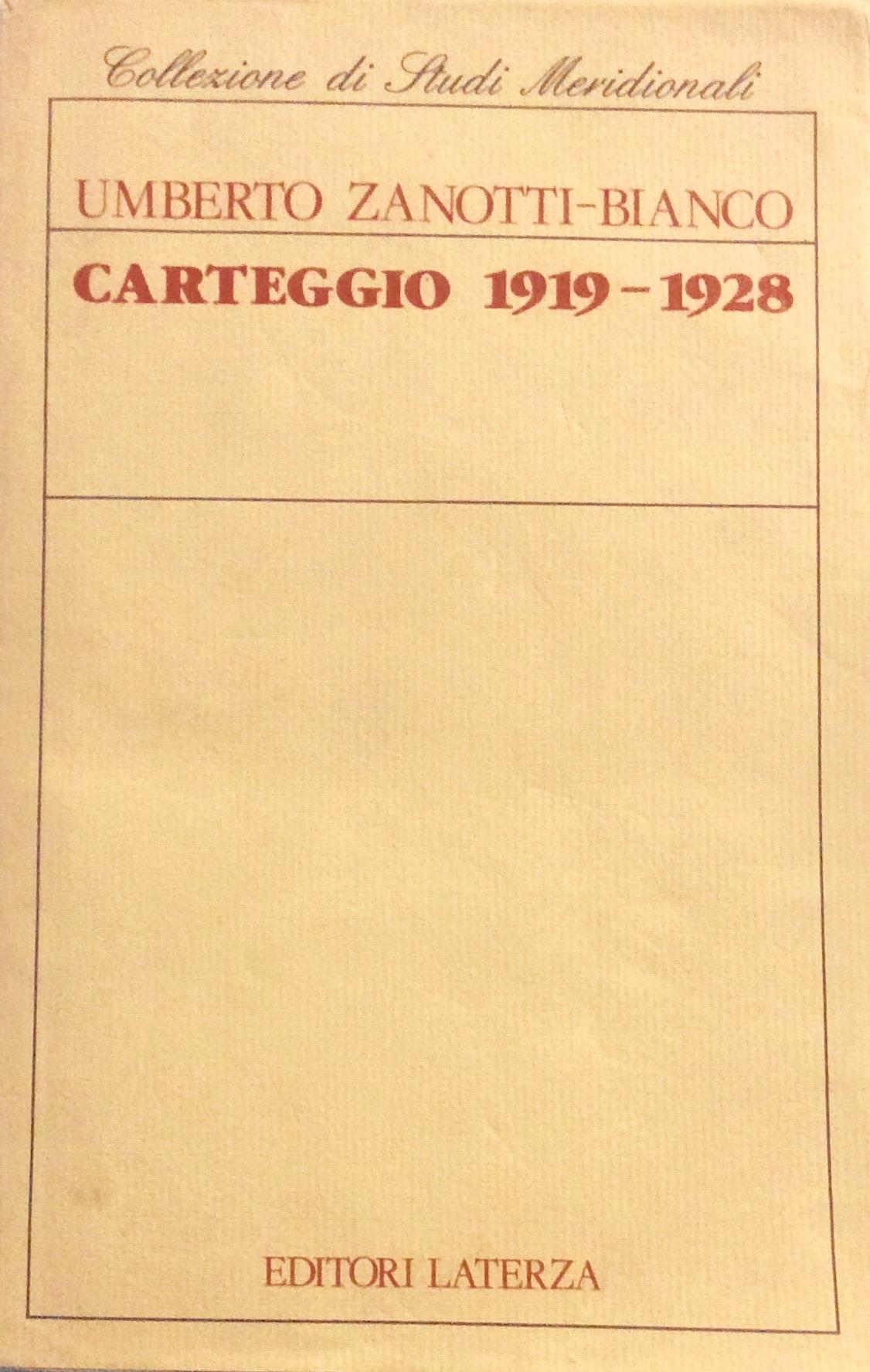 Carteggio (1919-1928)