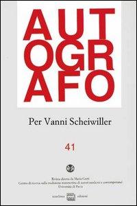 A Vanni Scheiwiller: una sirena nell'editoria italiana