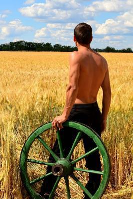 Hot Farmer in a Field Journal