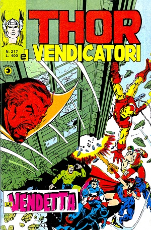 Thor e i Vendicatori (Il Mitico Thor) n. 217